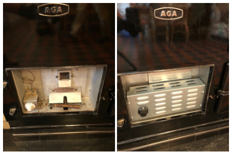 before and after Aga electric conversion